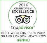 Park Grand London Heathrow tripadvisor certificate